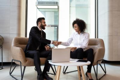 meeting between 2 people
